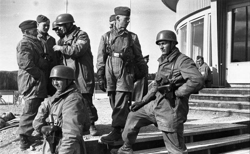 Немецкие десантники в Осло. Апрель 1940 г.