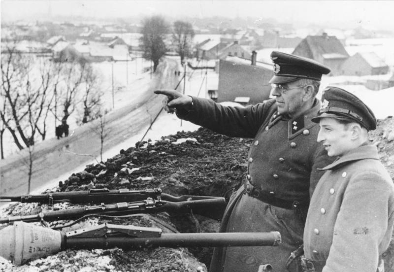Фольксштурм в обороне Одера. Февраль 1945 г.