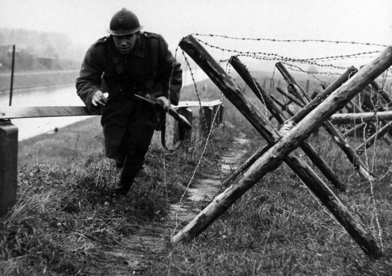 Бельгийские солдаты на фронте. Май 1940 г.