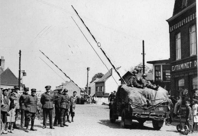 Британские войска входят в Бельгию. Май 1940 г.