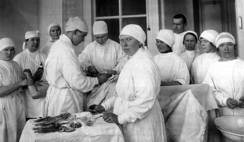 Операционная госпиталя в Удмуртии. 1943 г.