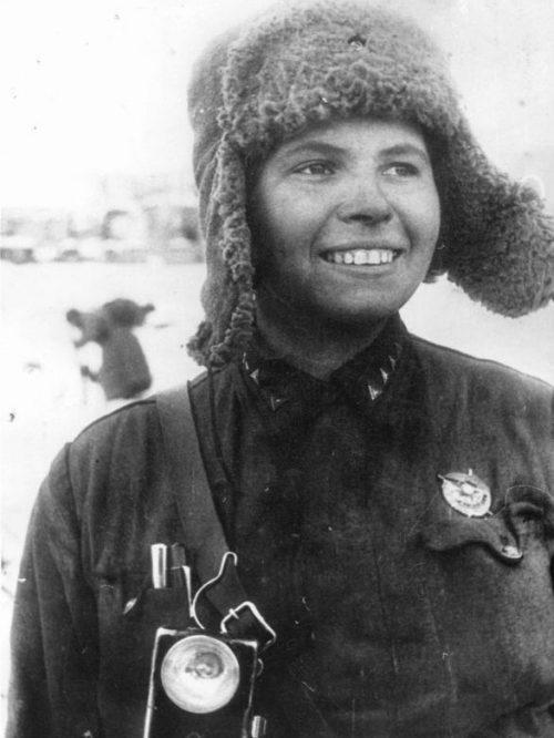 Санинструктор 24-й армии Донского фронта Мария Таранина. Февраль 1943 г.