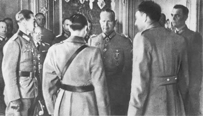 Процедура подписания капитуляции Бельгии. Май 1940 г.