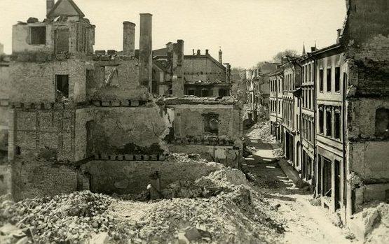Результаты советской бомбардировки Таллина. 9 марта 1944 г.