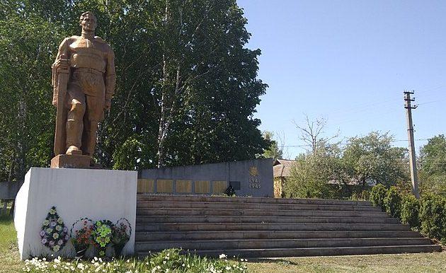 с. Новоселица Чигиринского р-на. Памятник погибшим односельчанам.