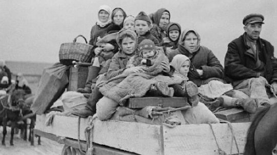 Беженцы из Эстонии. Август 1944 г.