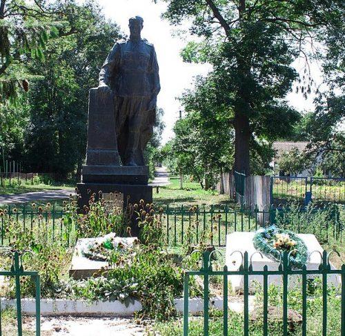 с. Ботвиновка Христиновского р-на. Памятник, установленный на братской могиле советских воинов.