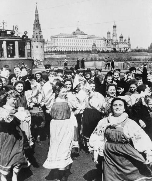 День Победы в Москве. 1945 г.