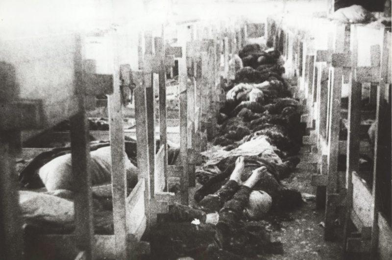 Убитые евреи в женском блоке концлагеря Клоога. Сентябрь 1944 г.