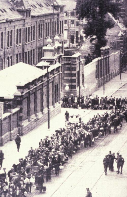 Облава на евреев в Брюсселе. 1940 г.