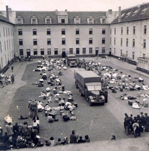 Транзитный еврейский лагерь Мехелен. 1942 год.