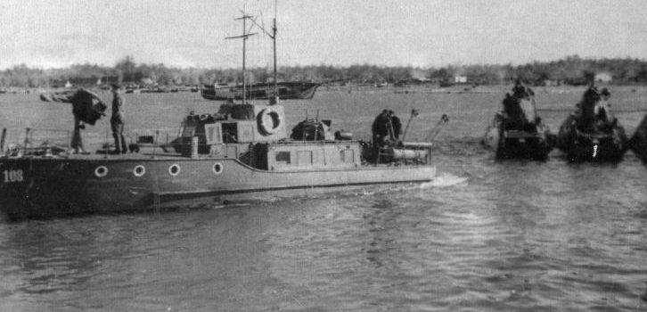 Советские торпедные катера, прибывшие в порт Виртсу. Октябрь 1944 г.