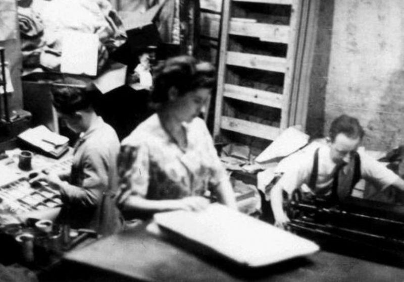 Подпольная типография «La Libre Belgique» в Льеже. 1944 г.