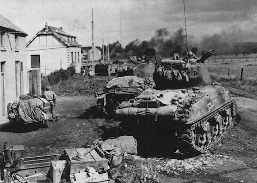 Американские войска в бою за Гелин. Сентябрь 1944 г.