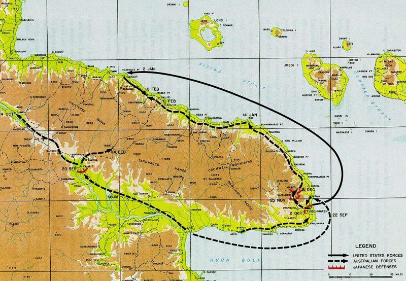 Захват полуострова Хуон в 1943—1944 годах.
