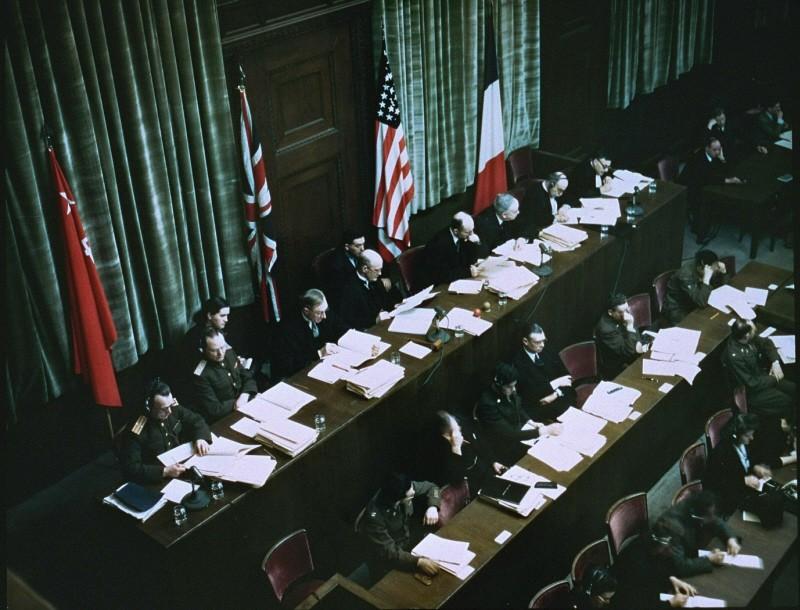 Заседание Международного военного трибунала.