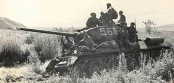 Советские танки в Маньчжурии. Август 1945 г.