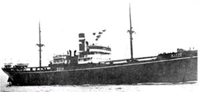 Японский транспорт «Kuretake Maru», который потопили американцы.