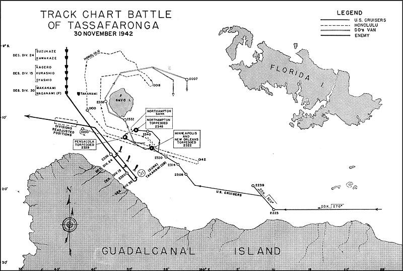 Карта-схема ночного сражения.