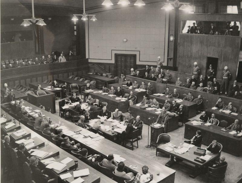 Зал заседаний Токийского трибунала. 1946 г.