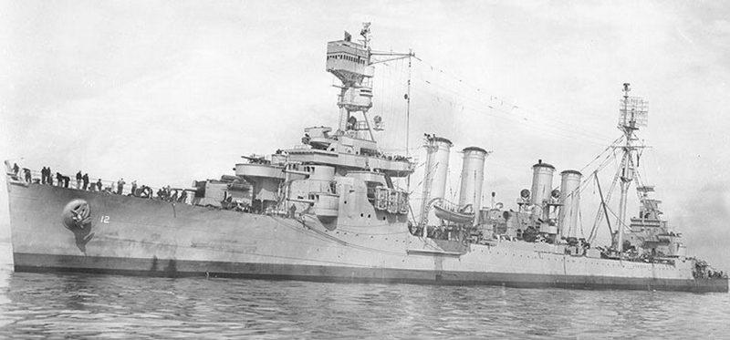Крейсер «Marblehead» в море.