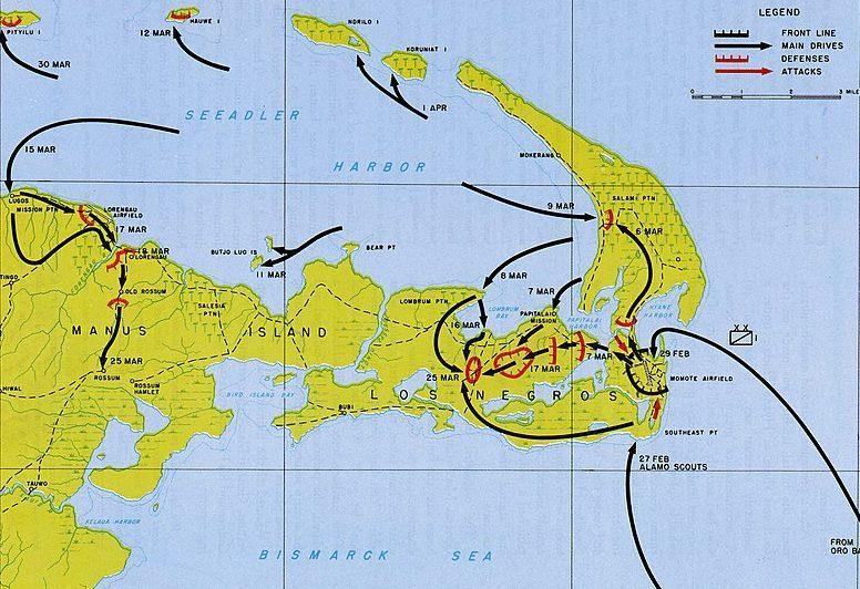 Ход сражения на островах Адмиралтейства.