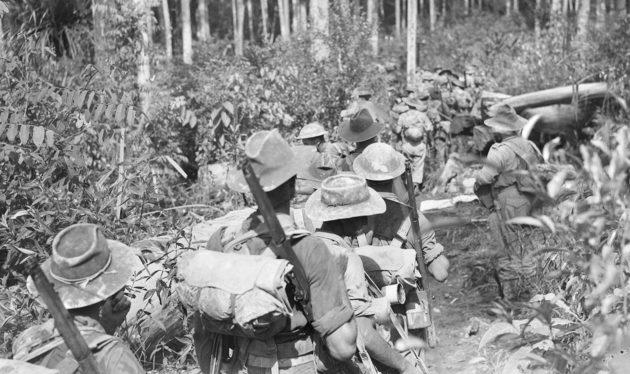Войска Союзников в наступлении.