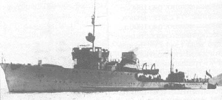 Сторожевые корабли «Киров», принимавший участие в десантной операции.