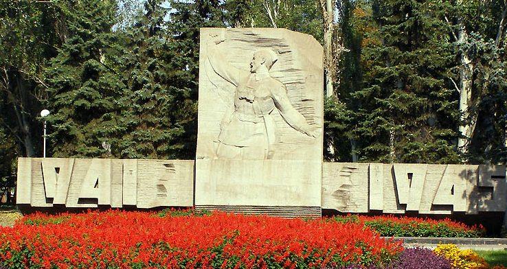 Памятник «Комбат» на мемориале.