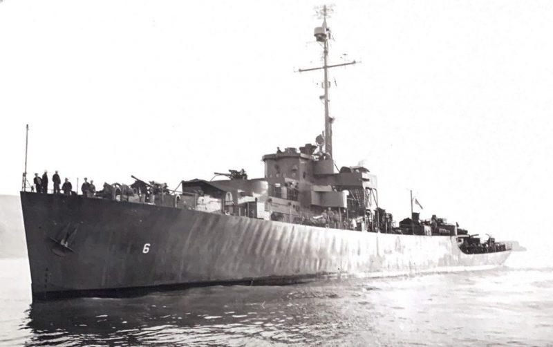 Фрегат USS Pasco под советским флагом. Май 1945 г.