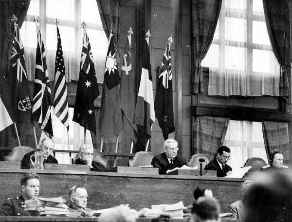 Судьи на Токийском процессе. 1946 г.
