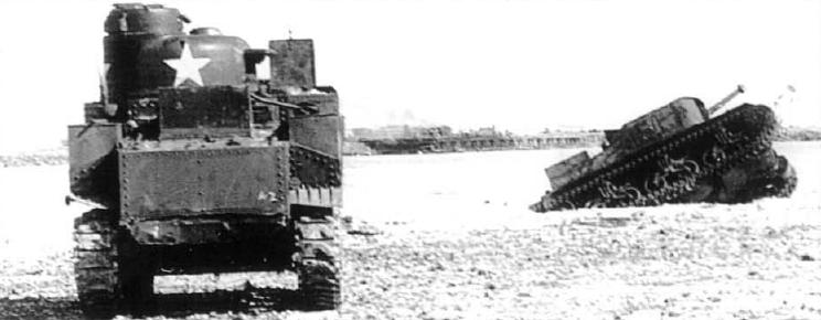 Американские танки на атолле.