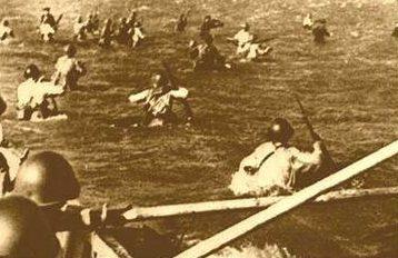 Высадка советского морского десанта на остров Шумшу.