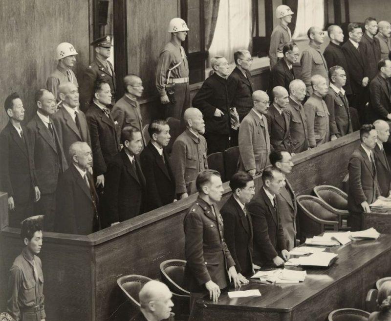 Обвиняемые Токийского трибунала. 1945 г.