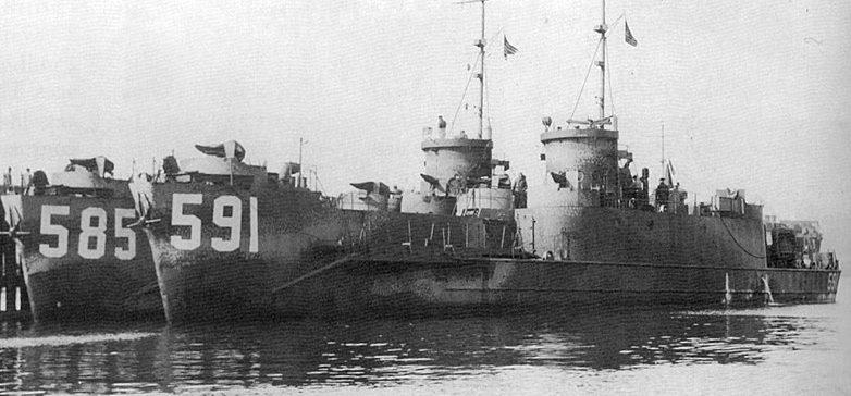 Большой пехотный десантный корабль USS LCI (L) -585 и USS LCI (L) -591, ставшие после передачи СССР ДС-45 и ДС-35 соответственно.