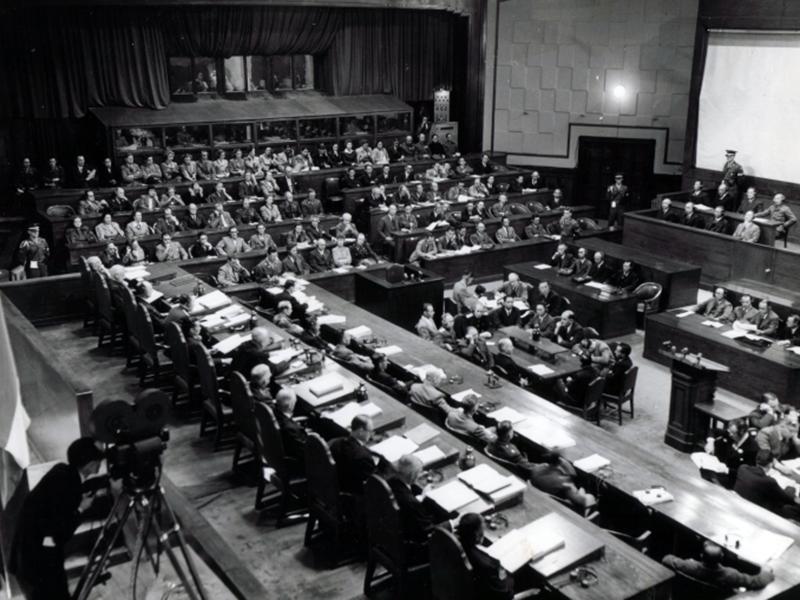 Заседание суда. 1946 г.