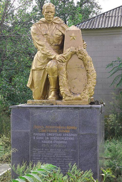 с. Подгорное Васильевского р-на. Братская могила, в которой похоронено более 700 советских воинов.
