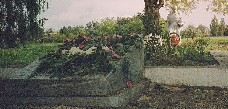 с. Лежино Запорожского р-на. Памятник, установленный на братской могиле, в которой похоронено 28 советских воинов и памятник воинам-односельчанам.