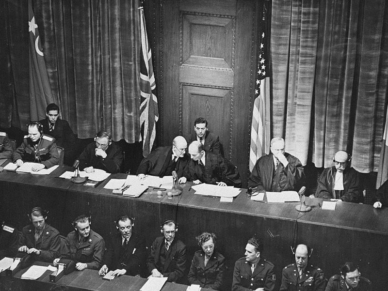 Судьи Международного военного трибунала во время заседания. 1945 г.