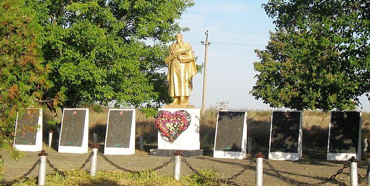 п. Андреевка Бердянского р-на. Памятник воинам-односельчанам.