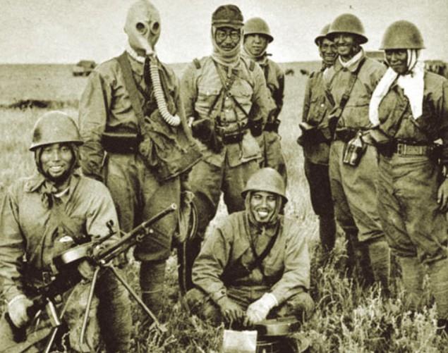 Японские военнослужащие Квантунской армии. Август 1945 г.