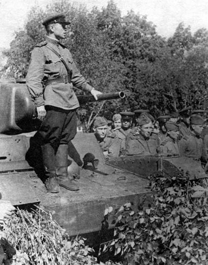 Митинг перед началом войны с Японией. Август 1945 г.