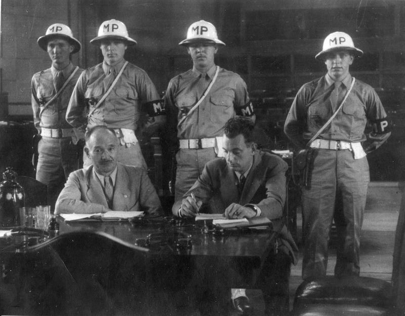 Адвокаты японцев и охрана трибунала. 1947 г.