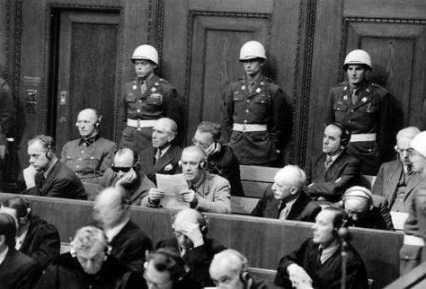 Заседания Международного военного трибунала. 1945 г.