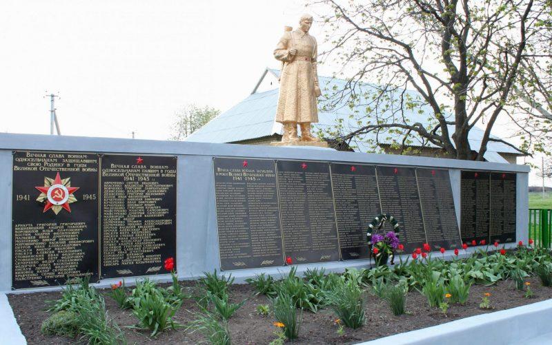 с. Шевченковское Ореховского р-на. Памятник, установленный на братской могиле советских воинов.