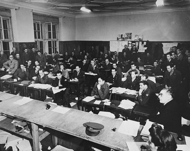 Пресса в Международном военном трибунале. 1945 г.