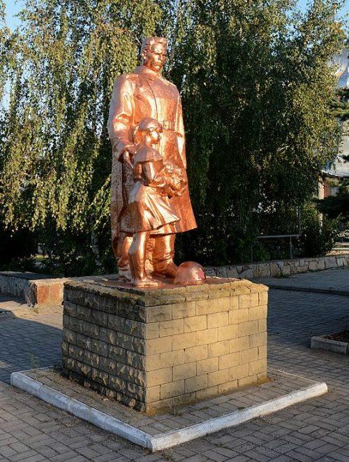 г. Бердянск, с. Нововасильевка. Памятник в честь погибших воинов-односельчан.