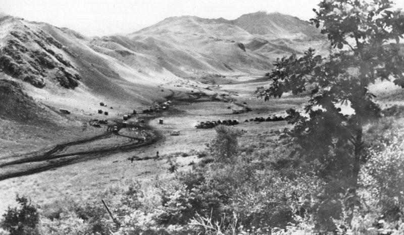 Войска Забайкальского фронта в предгорьях Большого Хингана. Август 1945 г.
