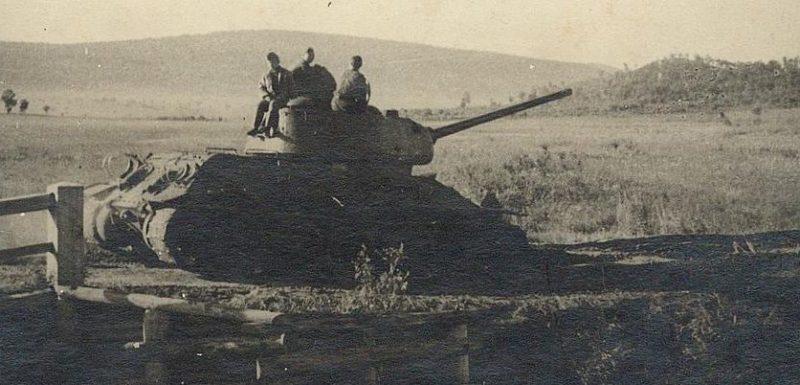 Танкисты на отдыхе в Маньчжурии. Август 1945 г.