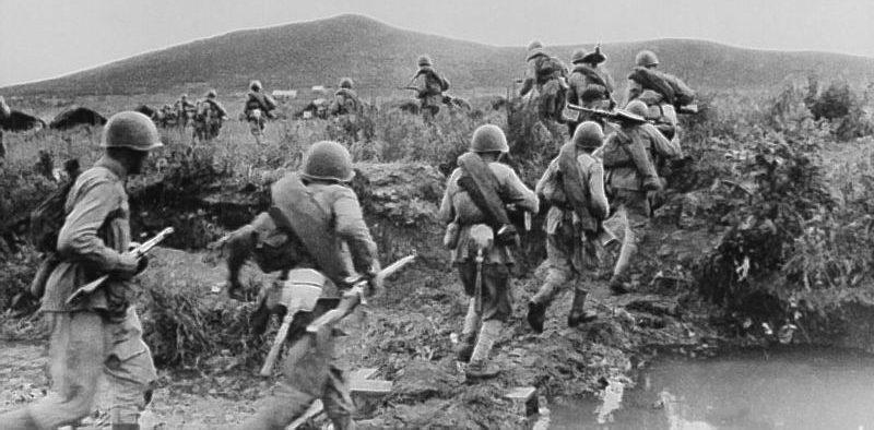 Наступление советских войск в Маньчжурии. Август 1945 г.